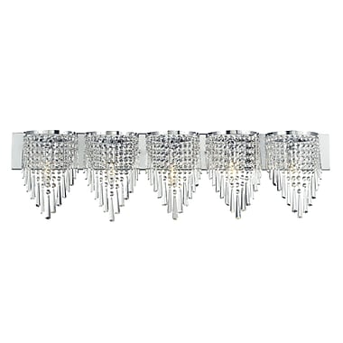 Z-Lite Tango (868CH-5V) 5 Light Crystal Vanity Light, 4.5
