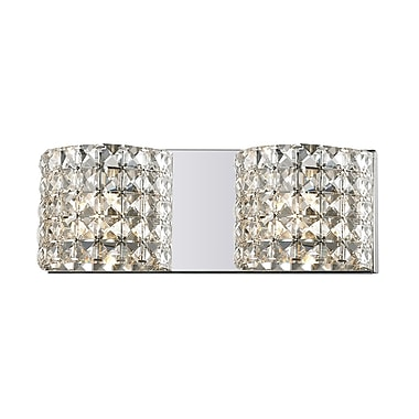 Z-Lite Panache (867-2V) 2 Light Crystal Vanity Light, 3.54