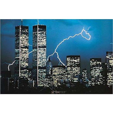 New York - Lightning, Stretched Canvas, 24