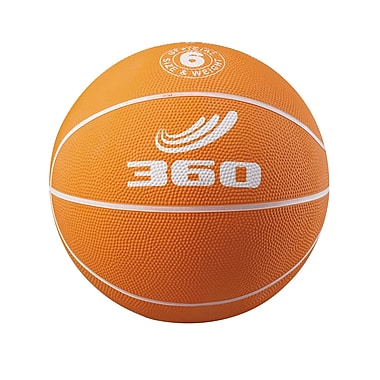 360 Athletics Rubber Playground Basketball, Orange/White