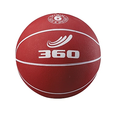 360 Athletics Rubber Playground Basketball, Red/White