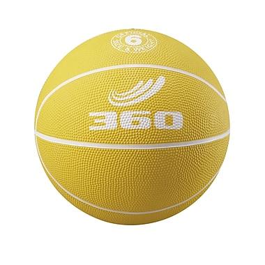 360 Athletics Rubber Playground Basketball, Yellow/White