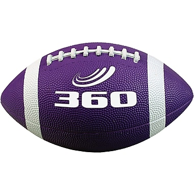 360 Athletics Rubber Footballs Size 7, Purple