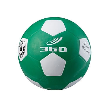 360 Athletics Rubber Playground Soccer Ball, 4 Green