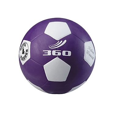 360 Athletics Rubber Playground Soccer Ball, 4 Purple