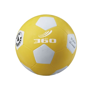 360 Athletics Rubber Playground Soccer Ball, 4 Yellow