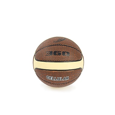 360 Athletics Rubber Composite Basketball Size 7, Red/Grey