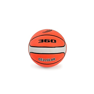 360 Athletics Rubber Composite Basketball Size 7, Brown/Cream
