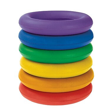 360 Athletics Rubber Rainbow Deck Ring Set 6