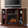 Wildon Home   Caswell 52'' TV Stand with Electric Fireplace; Espresso