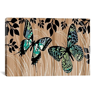 iCanvas Butterfly Patchwork by Erin Clark Graphic Art on Canvas; 12'' H x 18'' W x 1.5'' D