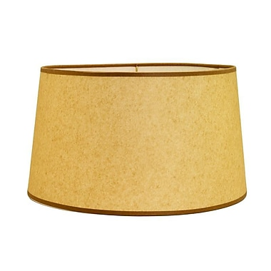 Deran Lamp Shades 17'' Hard Back Linen Drum Lamp Shade; Onion Skin
