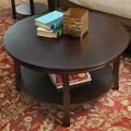 Wildon Home  Bay Shore Coffee Table with Shelf; Espresso
