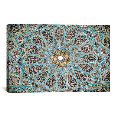 iCanvas Islamic 'Tomb of Hafez Mosaic' Graphic Art on Canvas; 12'' H x 18'' W x 1.5'' D