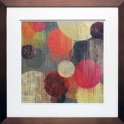 North American Art 'Magenta Bubbles II' by Tom Reeves Framed Painting Print