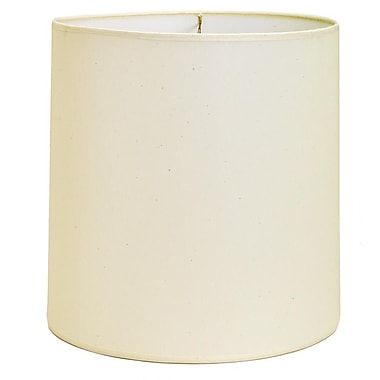 Deran Lamp Shades Hardback 13'' Linen Drum Lamp Shade; Wedgewood