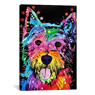 iCanvas 'Westie' by Dean Russo Graphic Art on Canvas; 12'' H x 8'' W x 0.75'' D