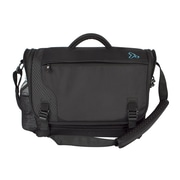 Travelon Anti-Theft React Messenger Bag; Black