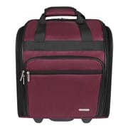 Travelon 14'' Wheeled Carry-On Suitcase; Burgundy
