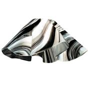 Jezebel Gallery 8.5'' Signature Glass Pendant Shade; Black and White