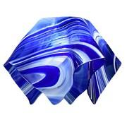 Jezebel Gallery 8.5'' Signature Glass Pendant Shade; Blue and White