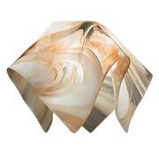 Jezebel Gallery 8.5'' Signature Glass Pendant Shade; Champagne, Beige & White