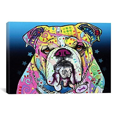 iCanvas 'The Bulldog' by Dean Russo Graphic Art on Canvas; 12'' H x 18'' W x 0.75'' D