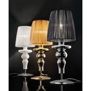 Evi Style Gadora Chic 19.7'' Table Lamp; White