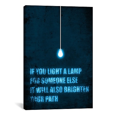 iCanvas 'Light a Lamp' by Budi Satria Kwan Textual Art on Canvas; 26'' H x 18'' W x 1.5'' D