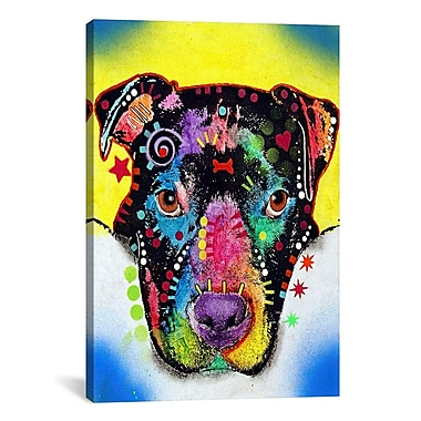 iCanvas 'Otter Pit Bull' by Dean Russo Graphic Art on Canvas; 18'' H x 12'' W x 0.75'' D