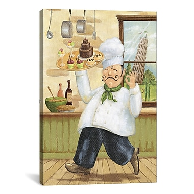 iCanvas Happy Chef II by Daphne Brissonnet Painting Print on Canvas; 40'' H x 26'' W x 1.5'' D