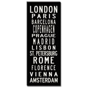 Uptown Artworks European Cities Textual Art Giclee Printed on Canvas; 24x60