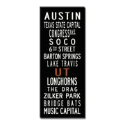 Uptown Artworks Austin Textual Art Giclee Printed on Canvas; 18x45