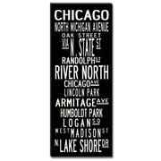 Uptown Artworks Chicago Textual Art Giclee Printed on Canvas; 20x50