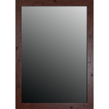 Second Look Mirrors New England Walnut Framed Wall Mirror; 35'' H x 25'' W