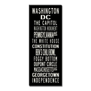 Uptown Artworks Washington DC Textual Art Giclee Printed on Canvas; 24X60