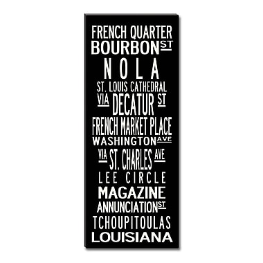 Uptown Artworks New Orleans Framed Textual Art on Wrapped Canvas; 18X45