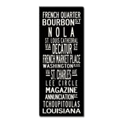 Uptown Artworks New Orleans Textual Art Giclee Printed on Canvas; 24x60