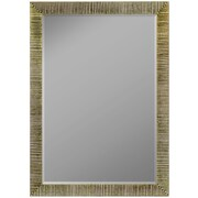 Second Look Mirrors Textured Silver Ribbed Wall Mirror; 40'' H x 28'' W