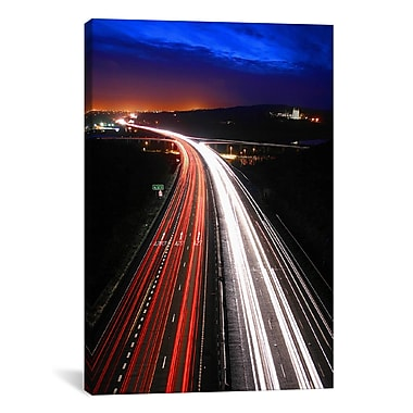 iCanvas Road Lights Photographic Print on Canvas; 40'' H x 26'' W x 0.75'' D