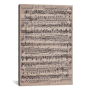 iCanvas Modern Sheet Music Ode to Joy Textual Art on Canvas; 18'' H x 12'' W x 0.75'' D