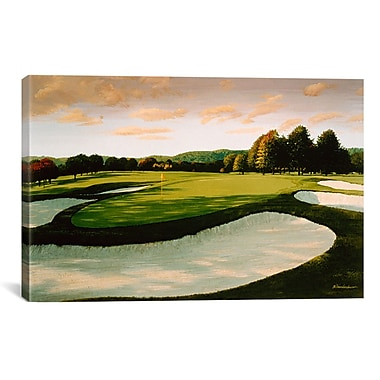 iCanvas Golf Course 8 by William Vanderdasson Painting Print on Canvas; 8'' H x 12'' W x 0.75'' D