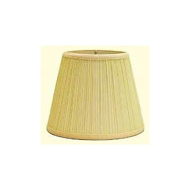Deran Lamp Shades Mushroom Pleat 12'' Linen Empire Lamp Shade; Black