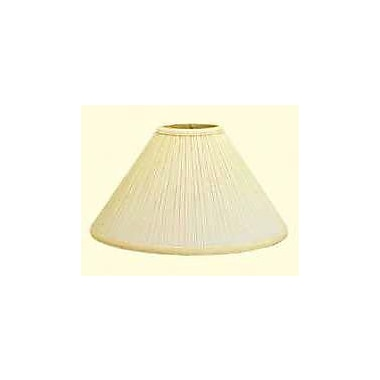 Deran Lamp Shades 20'' Mushroom Pleat Empire Lamp Shade; Natural