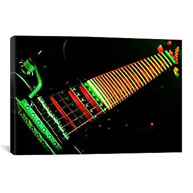 iCanvas Funky Guitar Photographic Print on Canvas; 18'' H x 26'' W x 1.5'' D
