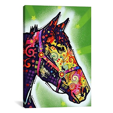 iCanvas Horse by Dean Russo Graphic Art on Canvas; 12'' H x 8'' W x 0.75'' D