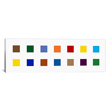 iCanvas Modern Colorful Squares Graphic Art on Canvas; 24'' H x 72'' W x 1.5'' D