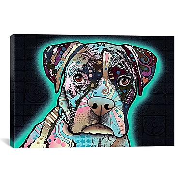 iCanvas 'Love Thy Boxer' by Dean Russo Graphic Art on Canvas; 26'' H x 40'' W x 0.75'' D