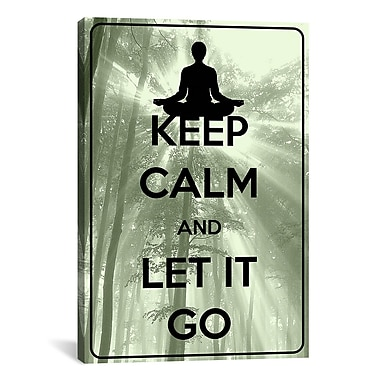 iCanvas Keep Calm and Let It Go Textual Art on Canvas; 40'' H x 26'' W x 1.5'' D