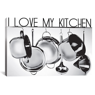 iCanvas I Love My Kitchen by Luz Graphics Graphic Art on Canvas; 12'' H x 18'' W x 1.5'' D